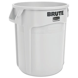 Rubbermaid Commercial 20-gallon White Plastic Round Brute Container