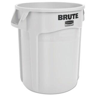 Rubbermaid Commercial 20-gallon White Plastic Round Brute Container
