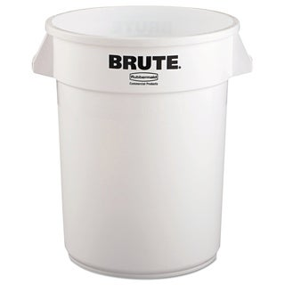 Rubbermaid Commercial 32-gallon White Plastic Round Brute Container