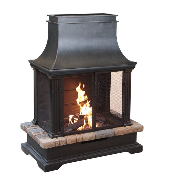 Sevilla Wood Burning Outdoor Fireplace Free Shipping
