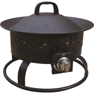 Aurora Rustic Dark Steel Gas Firebowl