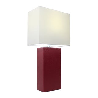 Porch & Den Delano Mt. Carmel Leather 1-light Table Lamp
