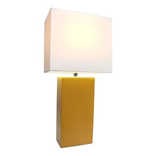 Porch & Den Delano Mt. Carmel Leather 1-light Table Lamp (More options available)