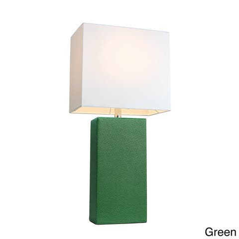 Porch & Den Mt. Carmel Leather 1-light Table Lamp