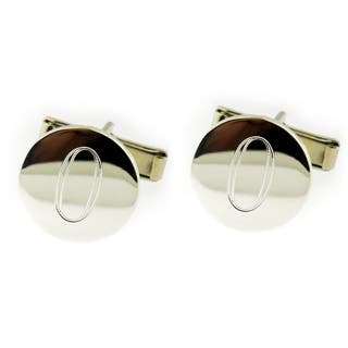 Handmade .925 Sterling Silver Monogrammed Round Cuff Links (Mexico)|https://ak1.ostkcdn.com/images/products/9418585/P16605727.jpg?impolicy=medium