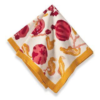 Pomegranate/ Yellow Cotton Napkins (Set of 6)