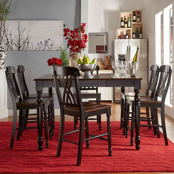 Tribecca Home Mackenzie Country Black Extending Dining Table Free Shipping Today 9418647