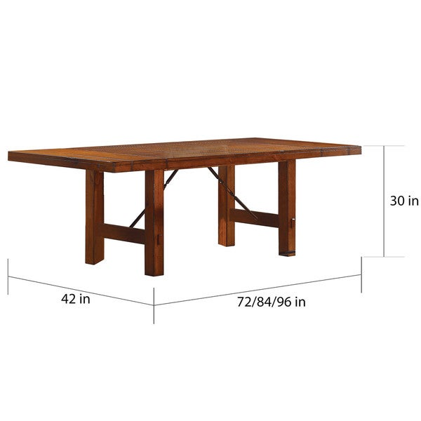 Swindon Rustic Oak Turnbuckle Extending Dining Table by iNSPIRE Q