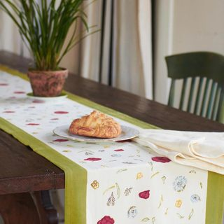 Springfields Multicolored Cotton Table Runner