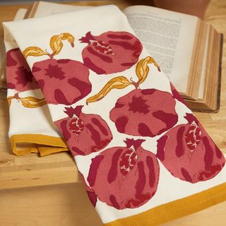 Pomegranate/ Yellow 20x30-inch Tea Towels (Set of 3)