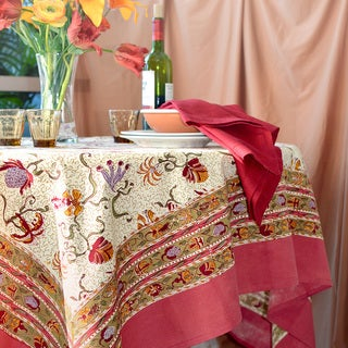 Fleurs des Indes Rectangular Cotton Tablecloth