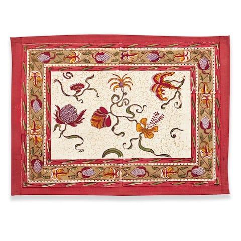 Couleur Nature Fleurs des Indes Placemat (Set of 6)