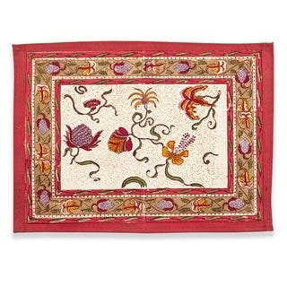 Couleur Nature Fleurs des Indes Placemat (Set of 6)|https://ak1.ostkcdn.com/images/products/9418667/P16605772.jpg?impolicy=medium