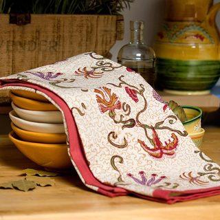 Fleurs des Indes 20x30-inch Cotton Tea Towels (Set of 3)