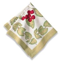 Cherry Red/ Green Cotton Napkins (Set of 6)