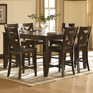 TRIBECCA HOME Acton Merlot Counter Height Dining Table