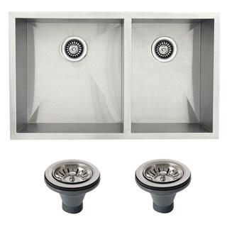 Ticor 4404BG-DEL Stainless Steel Undermount Double Bowl Kitchen Sink