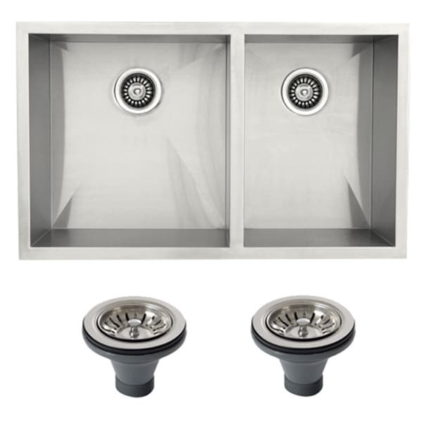 Ticor 4404BG-DEL Stainless Steel Undermount Double Bowl ...