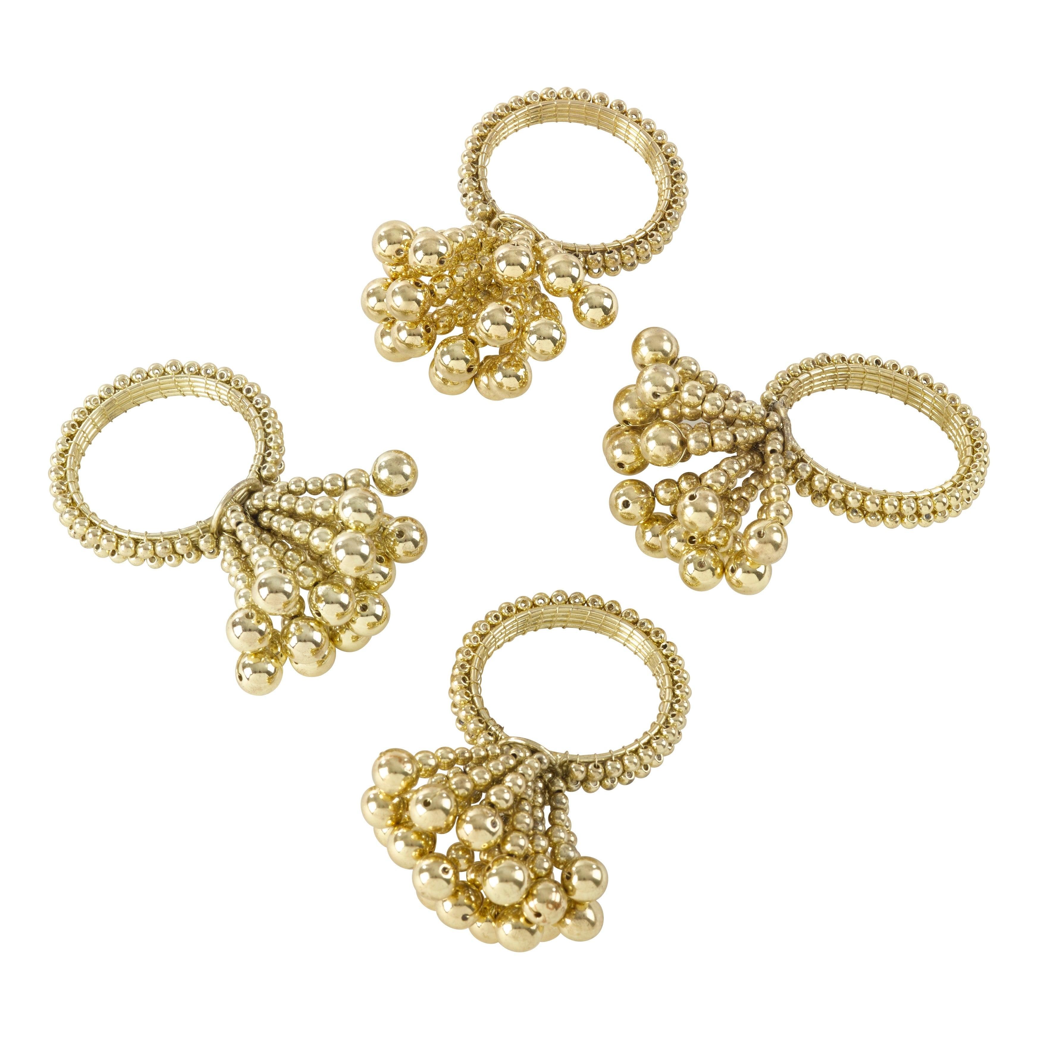 Flower-Design-Napkin-Rings-Set-of-4 thumbnail 9