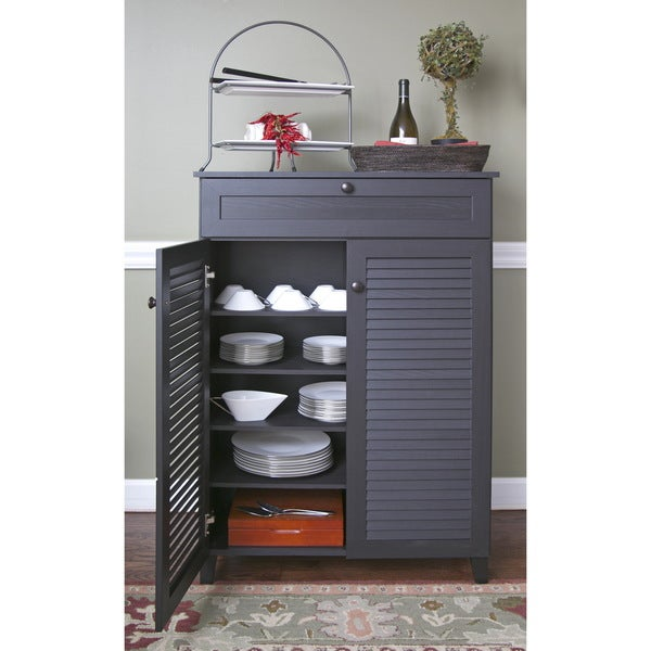 Baxton Studio Euan Espresso Wood Multi-use Cabinet