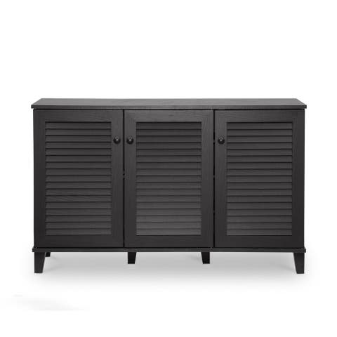 Porch & Den Espresso Wood 3-door Cabinet