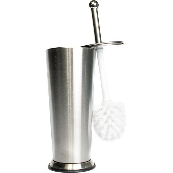 Tapered Stainless Steel Toilet Brush and Holder