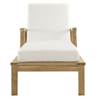 Pier Outdoor Patio Teak Wood Single Chaise