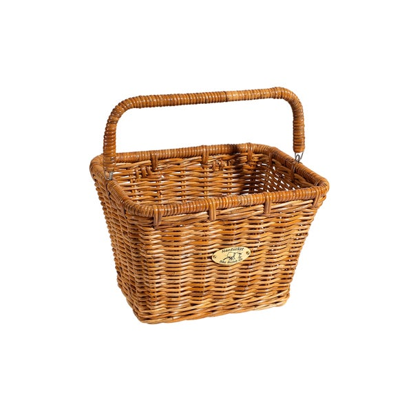 Nantucket Bicycle Basket Co. Dutch Cisco Large Rectangle Bicycle Basket with Hooks and Handle