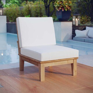 Pier Outdoor Patio Teak Wood Middle Sofa