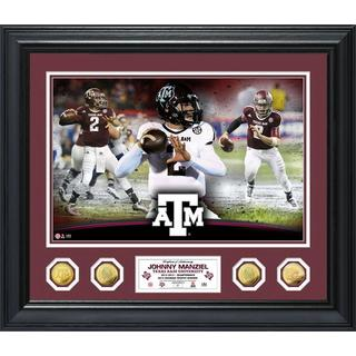 Johnny Manziel Texas A&M Special Edition Photo Mint Gold Coin