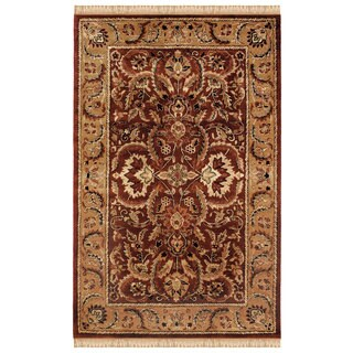 Linon Rosedown Burgundy and Gold Area Rug (4' x 6')