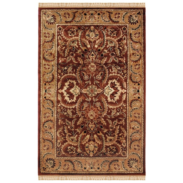 Shop Linon Rosedown Burgundy And Gold Area Rug 4 X 6 On Sale
