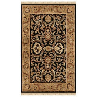 Linon Rosedown Black/ Gold Area Rug (4' x 6')
