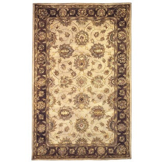 Linon Rosedown Pale Gold/ Chocolate Area Rug (4' x 6')