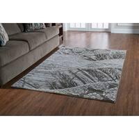 Linon Jewel Grey/ Beige Area Rug (5' x 7'6)