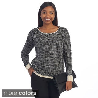 Hadari Women's Contemporary Glittery Wool Sweater Top