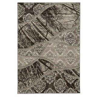 Linon Jewel Brown/ Light Brown Area Rug (8' x 10'4)