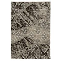 Linon Jewel Brown/ Light Brown Area Rug (8' x 10'4) - 8' x 10'4