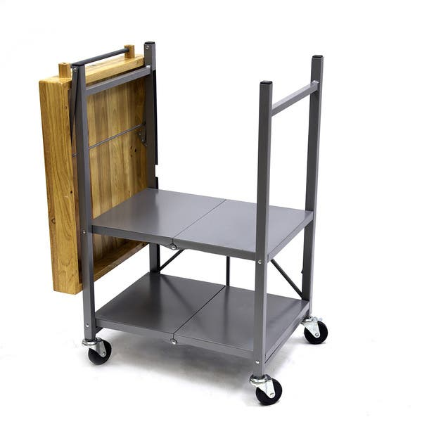 Origami® Folding Kitchen Island Cart - 224145, Kitchen & Dining ... | 600x600