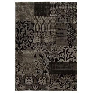 Linon Jewel Dark Beige/ Beige Area Rug (2' x 3')