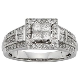 Sofia 10k White Gold 1ctTW Diamond Engagement Ring (H-I, I1-I2)