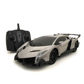 Grey Lamborghini Veneno 1:18-scale Remote Control Supercar