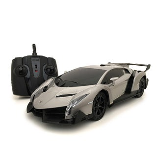 2.4 GHZ Multi-channels Remote Control 1:18 scale Licensed Grey Lamborghini Veneno Supercar