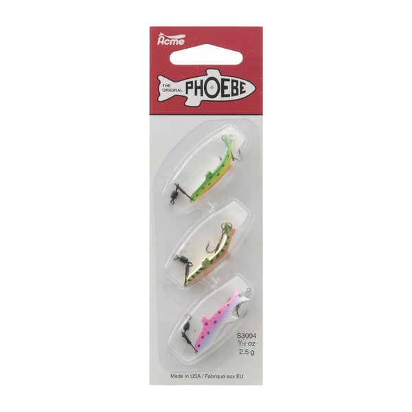 Acme Phoebe 0.08-ounce Deluxe 3-lure Pack