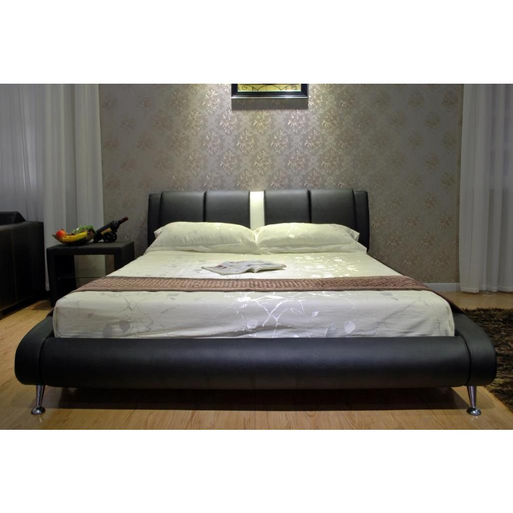 Greatime Two-tone Black / White Platform Bed (Cal King), ...
