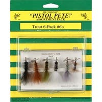 Pistol Pete Size 6 Trout Fly (Pack of 6)