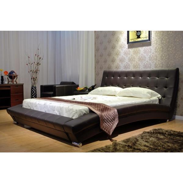 Chocolate Arch Platform Bed