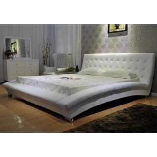 White Arch Platform Bed