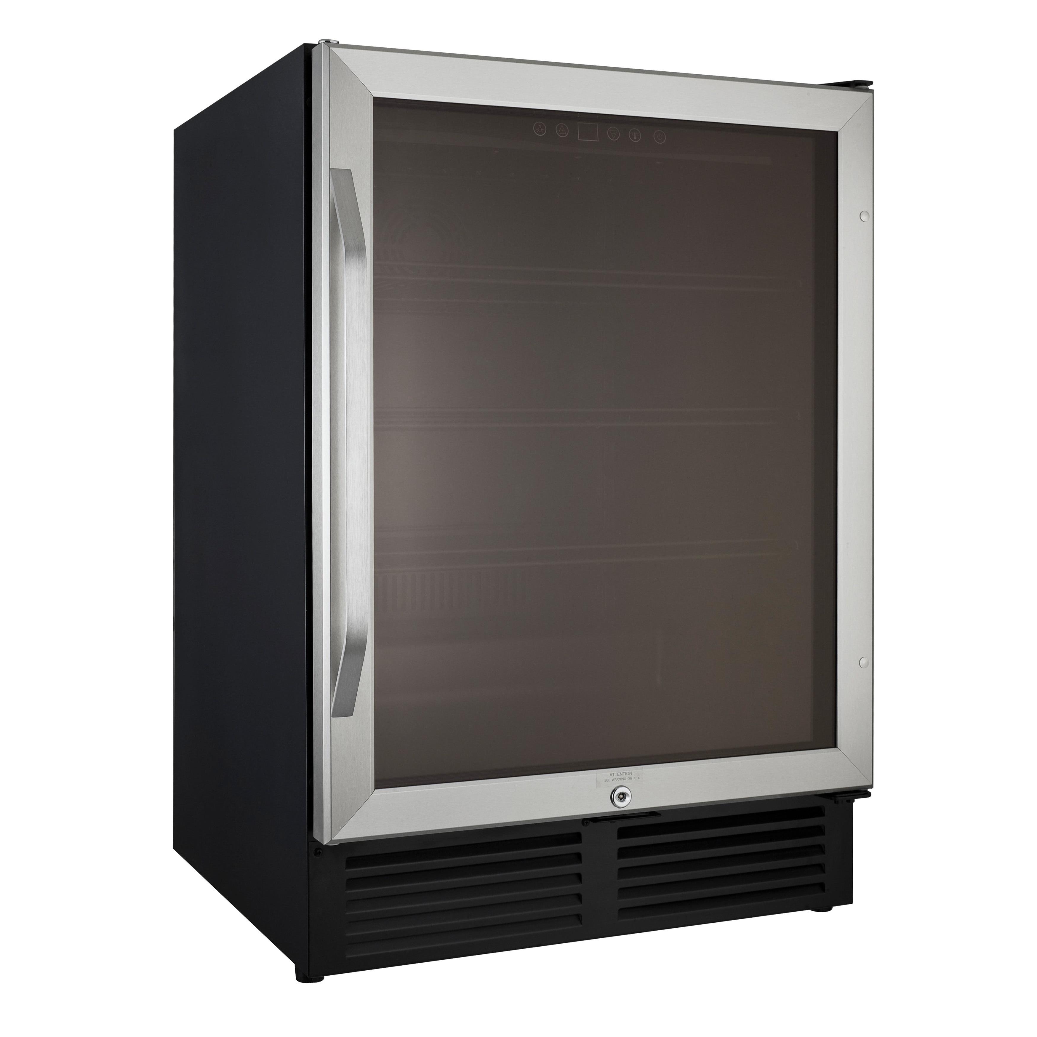 Avanti 5.0 Cubic Foot Glass Door Refrigerator, Silver Sta...