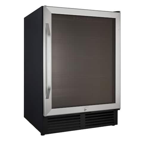5.0 Cubic Foot Glass Door Refrigerator
